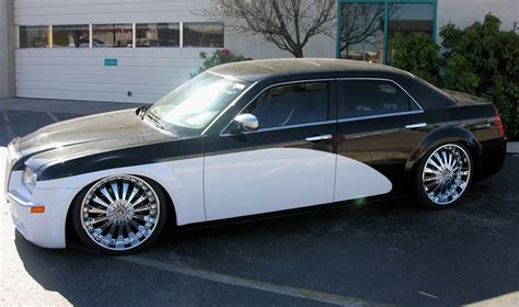 chrysler rolls chrysler 300 low rider 22 quot wheels with roll royce paint