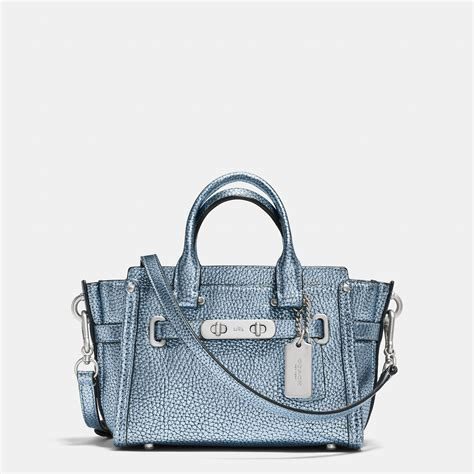 Coach Swagger Size 26 Tas Branded coach swagger 20 carryall in metallic from coach bags wallets