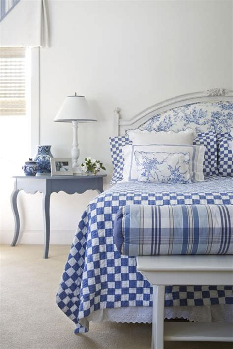blue and white rooms - White And Blue Bedroom