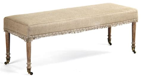country benches indoor alfreda french country burlap limed oak wood bench
