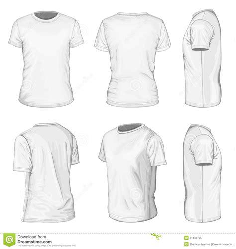 Plantillas Blancas Del Dise 241 O De La Camiseta De Manga Corta De Los Hombres Ilustraci 243 N Del Fashion Design T Shirt Templates