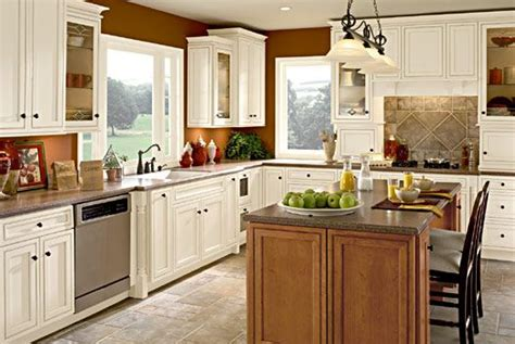 warm white kitchen tiled floor dream kitchens pinterest