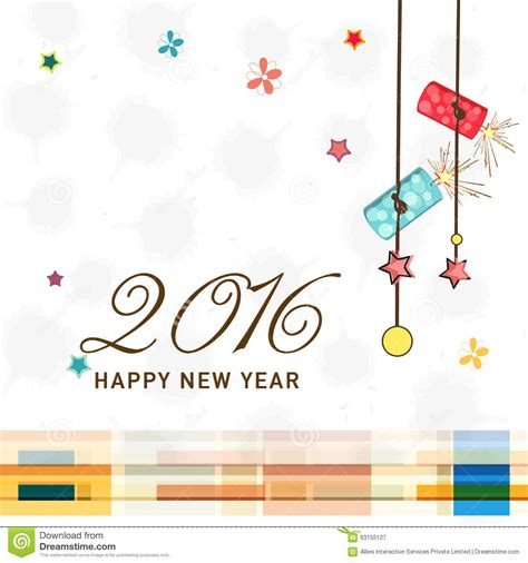 new year card design 2016 greeting card design for new year 2016 celebration stock