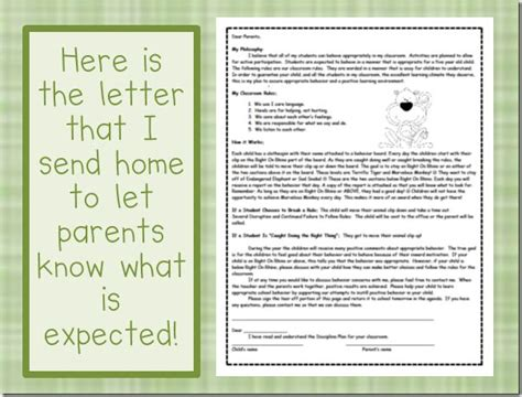 Parent Behavior Letter From Behavior Letter To Parents Classroom Management Parents Behavior System And Home