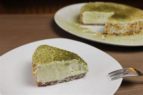 gesunde kuchen rezepte matcha cake no bake kuchen ohne zucker glutenfrei