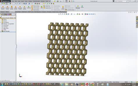 solidworks tutorial honeycomb honeycomb solidworks 3d cad model grabcad