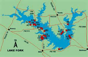 map of lake fork lake fork access