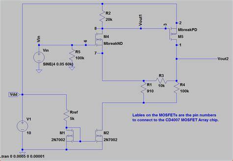 fet transistor model spice model for cd4007ub simulation models forum webench 174 design center ti e2e community