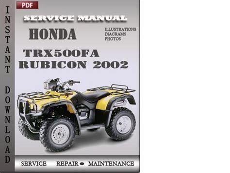 manual repair free 2002 honda pilot head up display honda trx500fa rubicon 2002 service repair manual download downlo