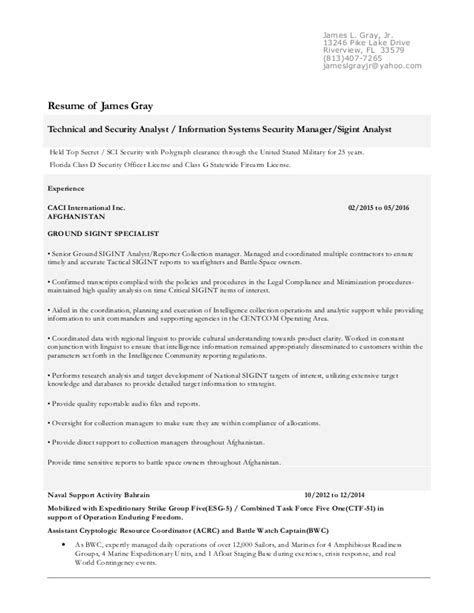 Resume D Gray by Gray Resume May 2016