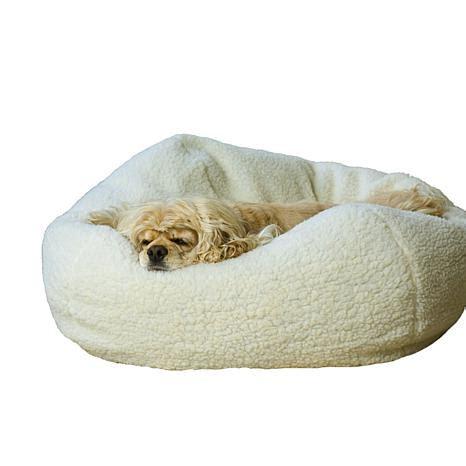 Small Pet Bed by Carolina Pet Company Sherpa Puff 174 Pet Bed Small