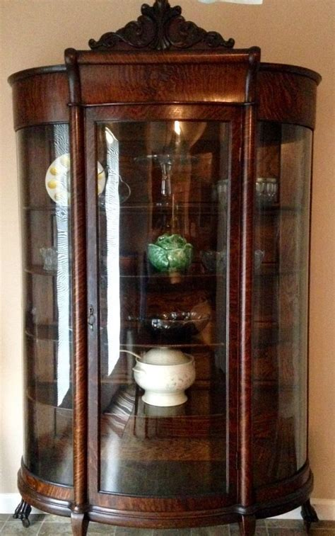 curved front corner curio cabinet the 25 best antique furniture ideas on pinterest