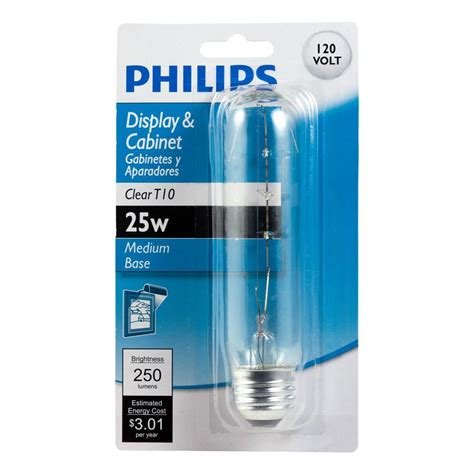 Lu Philips 25 Watt philips 25 watt t10 incandescent clear tubular light bulb