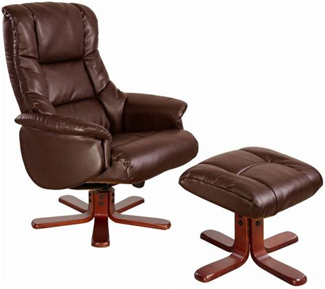 Buy Gfa Shanghai Nut Brown Bonded Leather Swivel Recliner Swivel Chair