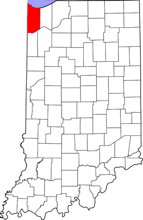 Lake County Indiana Search File Map Of Indiana Highlighting Lake County Svg Wikimedia Commons