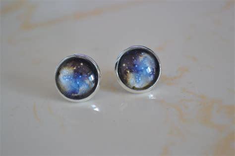 Galaxy Earrings galaxy earrings universe post earring ear stud space