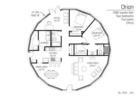 monolithic dome home floor plans floor plan dl 4703 monolithic dome institute