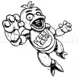 Five nights at freddys coloring pages chica cooloring com
