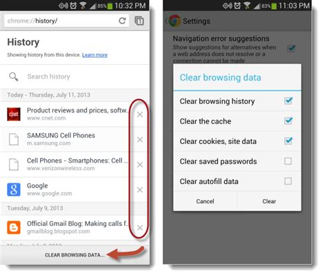 view android browser history how to clear browsing history on the new chrome for android cnet