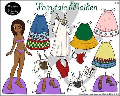 printable paper dolls and clothes marisole monday full color printable paper doll