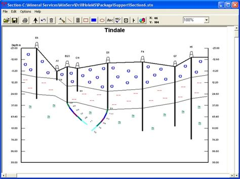 how to draw a geological cross section geologynet geology software drillholems drill logging