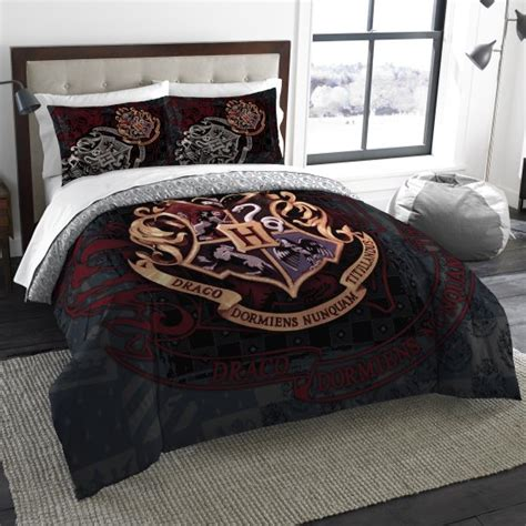 harry potter school motto twin full bedding comforter set