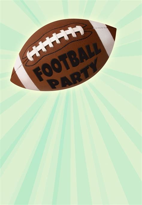 football birthday card template 41 best images about invitation templates on