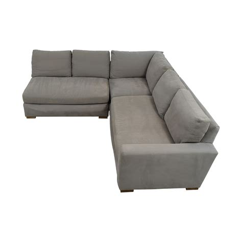 sectional couch hardware 53 off restoration hardware restoration hardware grey l