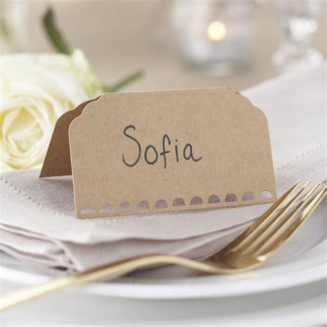 retro wedding place cards vintage rustic kraft wedding place cards by notonthehighstreet