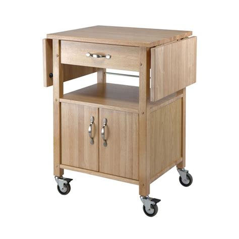 winsome wood gourmet drop leaf kitchen cart 84920