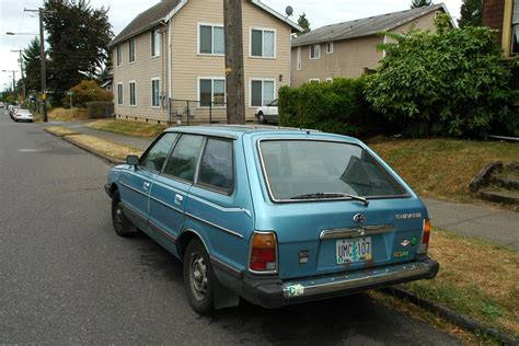 old subaru old parked cars 1981 subaru gl 5 wagon