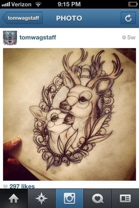 buck and doe tattoo designs 25 best ideas about baby deer on deer