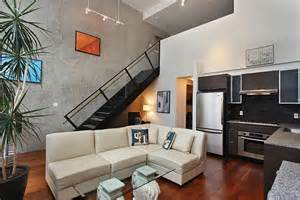 Small Living Room With Loft Industrial Loft Brings A Dash New York City Charm To