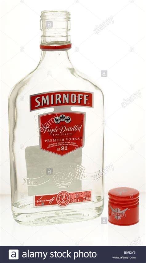 opened and empty bottle of smirnoff vodka stock photo royalty free image 17717594 alamy