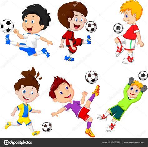 imagenes niños jugando futbol dibujos animados de peque 241 o jugando al f 250 tbol ni 241 o