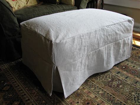 how to cover a ottoman you have to see ottoman slipcover by ms elaineous