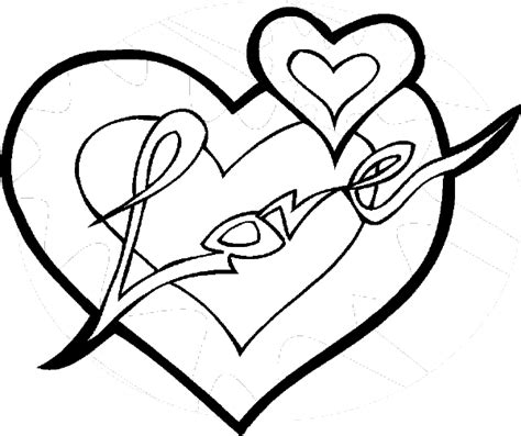 coloring page of a valentine heart valentines heart coloring pages