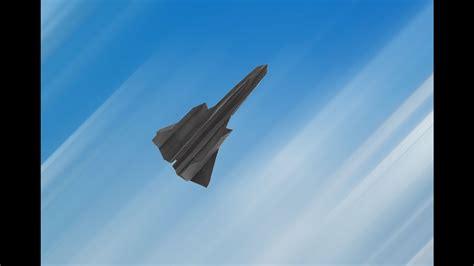 How To Make A Paper Sr 71 Blackbird That Flies - flyable origami sr 71 blackbird tutorial by ken hmoob