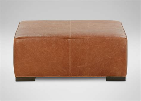 Leather Cocktail Ottoman Leather Cocktail Ottomans Ottomans Benches