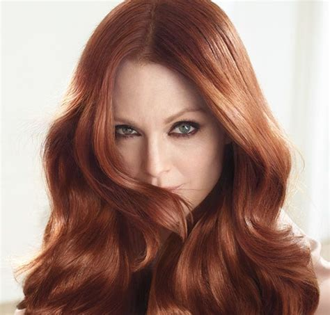 julianne moore hair color at home julianne moore for excellence home hair colour from l