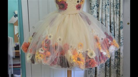 making  flower fairy dress part  youtube