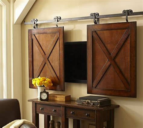 Barn Door Cafe Rolling Cabinet Media Solution Pottery Barn I Don T What For But There Is A Place For