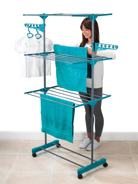 Laundry Set beldray 3 tier deluxe clothes airer and laundry basket set