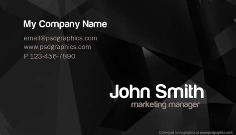Photoshop Business Card Templates by 17 Business Card Psd Template Images Black Business