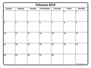Calendar 2019 February February 2019 Calendar February 2019 Calendar Printable