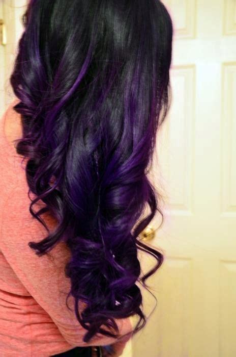 28 Purple Highlights With Hair