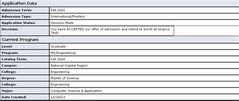 Acceptance Letter Virginia Tech Virginia Tech Application Essay 2015 Apply Undergraduate Admissions Virginia Tech