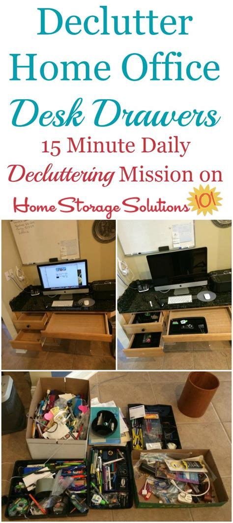 Declutter Desk by How To Declutter Desk Drawers In Your Home Office