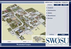 Oklahoma State University Map by Southwestern Oklahoma State University Interactive Campus