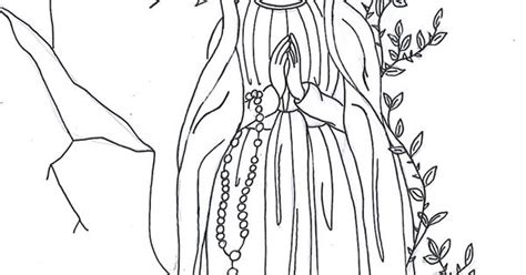 our lady of lourdes coloring page our blessed mother